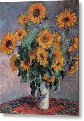 Sunflowers Metal Print by Claude Monet
