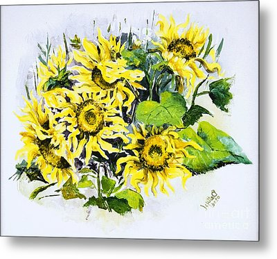 Sunflowers Metal Print by Elisabeta Hermann