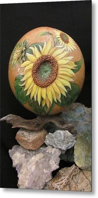 Sunflowers Gn41 Metal Print