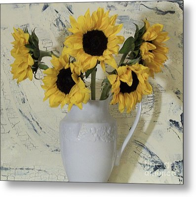 Sunflowers In The Country Metal Print by Marsha Heiken