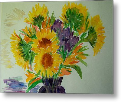 Sunflowers Metal Print by Liliana Andrei