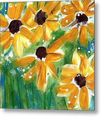Sunflowers Metal Print by Linda Woods