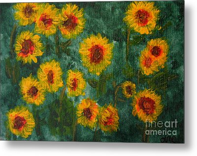 Sunflowers Metal Print by Lynne Reichhart