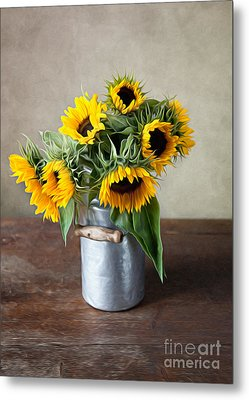 Sunflowers Metal Print by Nailia Schwarz