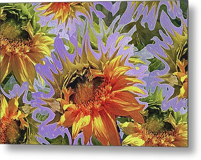 Sunflowers Rising 25 Metal Print