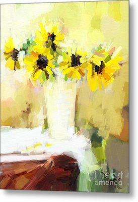 Sunflowers  Study Metal Print