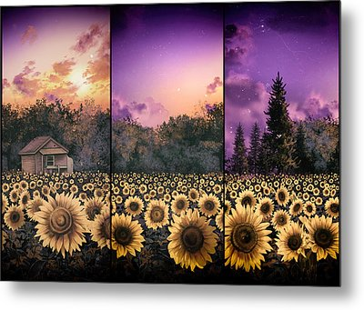 Sunflowers Triptych 2 Metal Print
