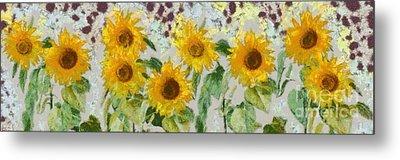 Sunflowers Wide Metal Print by Edward Fielding