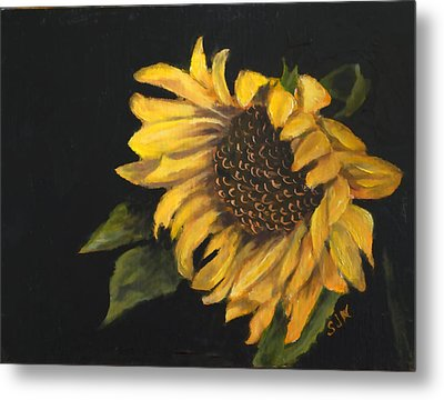 Metal Print featuring the painting Sunflowervi by Sandra Nardone