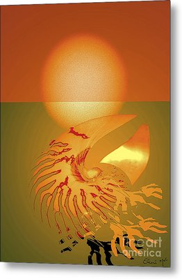 Sungazing Metal Print