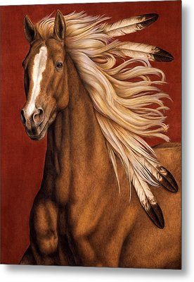 Metal Print featuring the painting Sunhorse by Pat Erickson