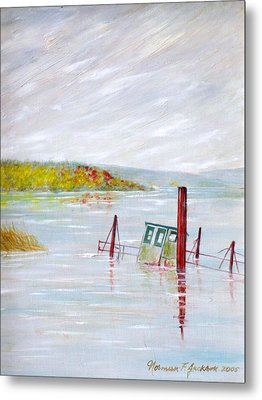 Sunken  Metal Print by Norman F Jackson