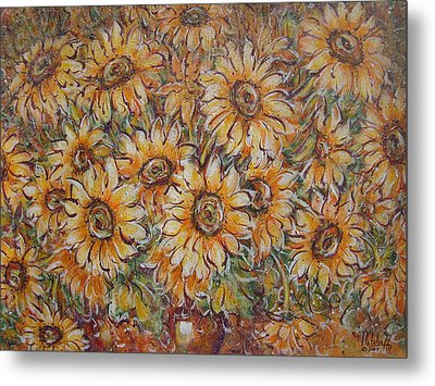 Metal Print featuring the painting Sunlight Bouquet. by Natalie Holland