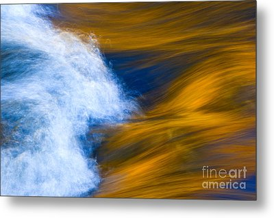 Sunlight On Flowing River Metal Print by Bill Brennan - Printscapes