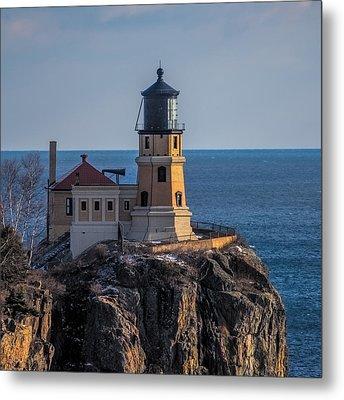Sunlight On Split Rock Lighthouse Metal Print