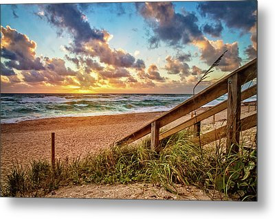 Metal Print featuring the photograph Sunlight On The Sand by Debra and Dave Vanderlaan