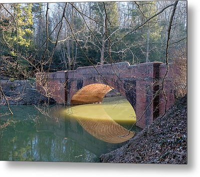 Sunlight Under Bridge Metal Print