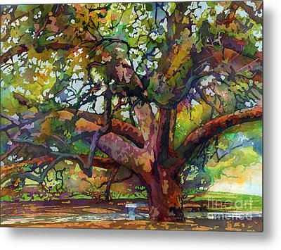 Sunlit Century Tree Metal Print by Hailey E Herrera