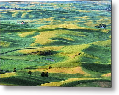 Sunlit Lands II Metal Print by Jon Glaser