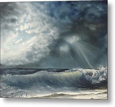Sunlit Sea Metal Print