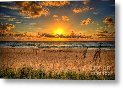 Sunny Beach To Warm Your Heart Metal Print