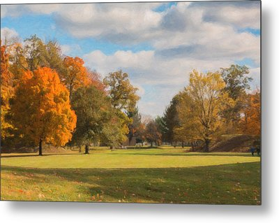 Sunny Day In Autumn Metal Print by Tom Mc Nemar