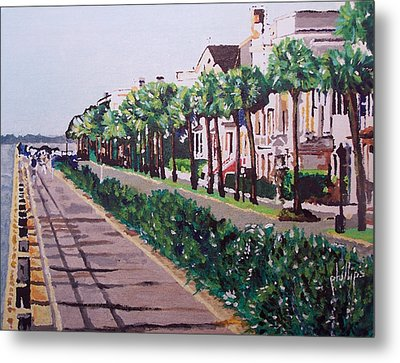 Sunny Day In Charleston Metal Print
