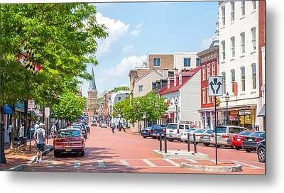 Metal Print featuring the photograph Sunny Day On Main by Charles Kraus