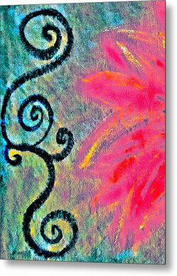Sunny Day Pink Metal Print by Gwyn Newcombe
