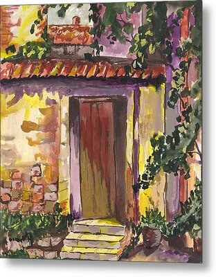 Metal Print featuring the digital art Sunny Doorway by Darren Cannell