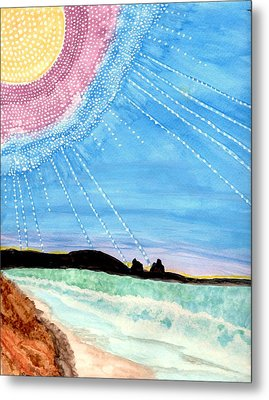 Sunny Ocean Days Are Bigger Than Life Metal Print by Connie Valasco