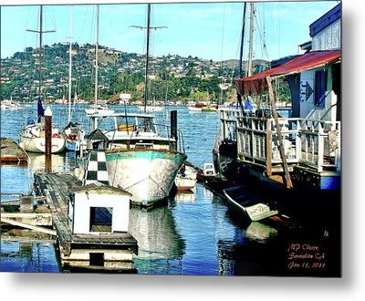 Metal Print featuring the digital art Sunny Sausalito by Michael Cleere