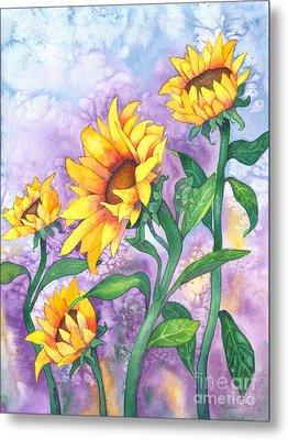 Sunny Sunflowers Metal Print by Kristen Fox