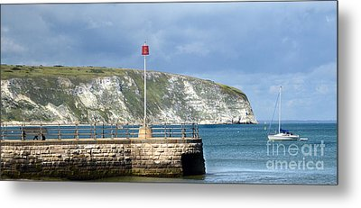 Sunny Swanage Dorset Uk Metal Print by Linsey Williams