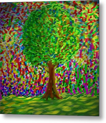 Sunny Tree Metal Print by Kevin Caudill