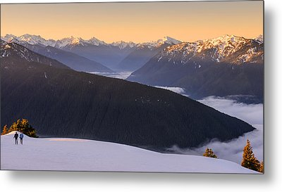 Metal Print featuring the photograph Sunrise Above The Clouds by Dan Mihai