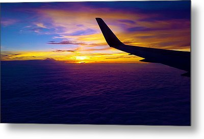 Sunrise Above The Clouds Metal Print by Judi Saunders