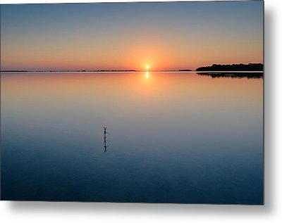 Sunrise Along The Pinellas Bayway Metal Print