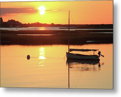 Sunrise At Bass River Metal Print by Roupen  Baker