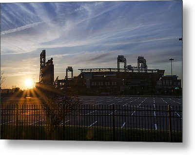 Sunrise At Citizens Bank Park - Philidelphia Metal Print by Bill Cannon