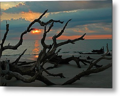Sunrise At Driftwood Beach 2.2 Metal Print