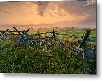Sunrise At Gettysburg National Park Metal Print by Craig Szymanski