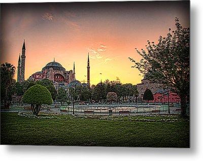 Sunrise At Hagia Sophia Metal Print