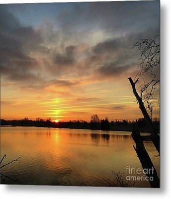 Sunrise At Jacobson Lake Metal Print