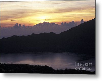 Sunrise At Mount Batur Bali Indonesia Metal Print by Gordon Wood