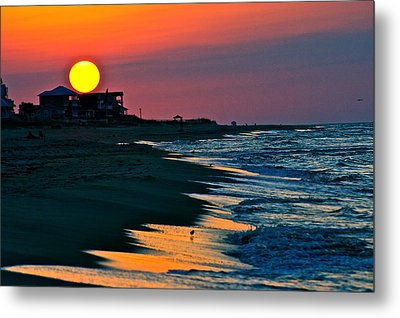 Sunrise At St. George Island Florida Metal Print
