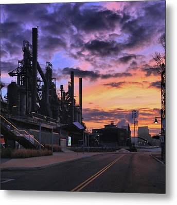 Metal Print featuring the photograph Sunrise At Steelstacks by DJ Florek