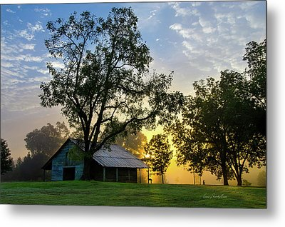 Metal Print featuring the photograph Sunrise At The Farm by George Randy Bass
