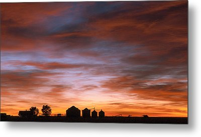 Metal Print featuring the photograph Sunrise At The Farm by Monte Stevens