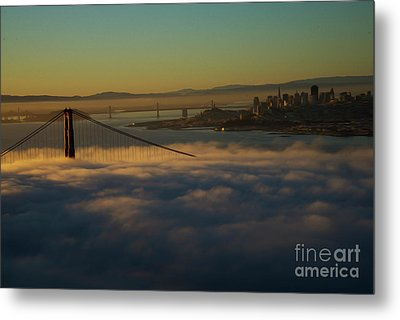 Metal Print featuring the photograph Sunrise At The Golden Gate by David Bearden